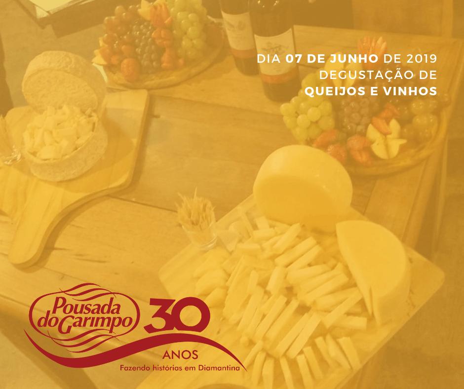 Degustação Vinhos e queijos Pousada do Garimpo