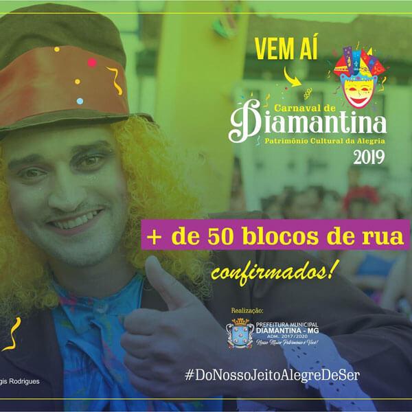 Blocos Carnaval Diamantina 2019