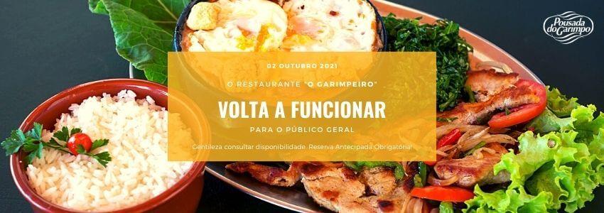 Comunicado atualizado Reabertura do restaurante O Garimpeiro para público geral