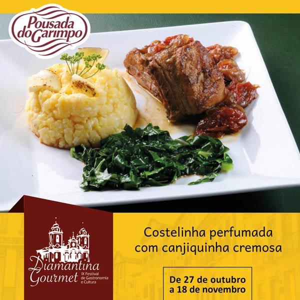 Prato da Pousada do Garimpo Diamantina Gourmet 2018