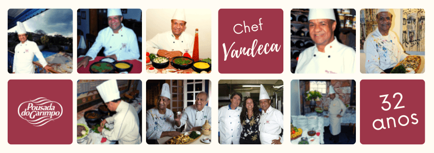 Chef Vandeca 32 anos na Pousada do Garimpo
