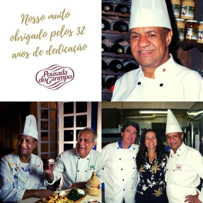Chef Vandecamuito obrigado pela dedicação - Pousada do Garimpo em Diamantina/MG