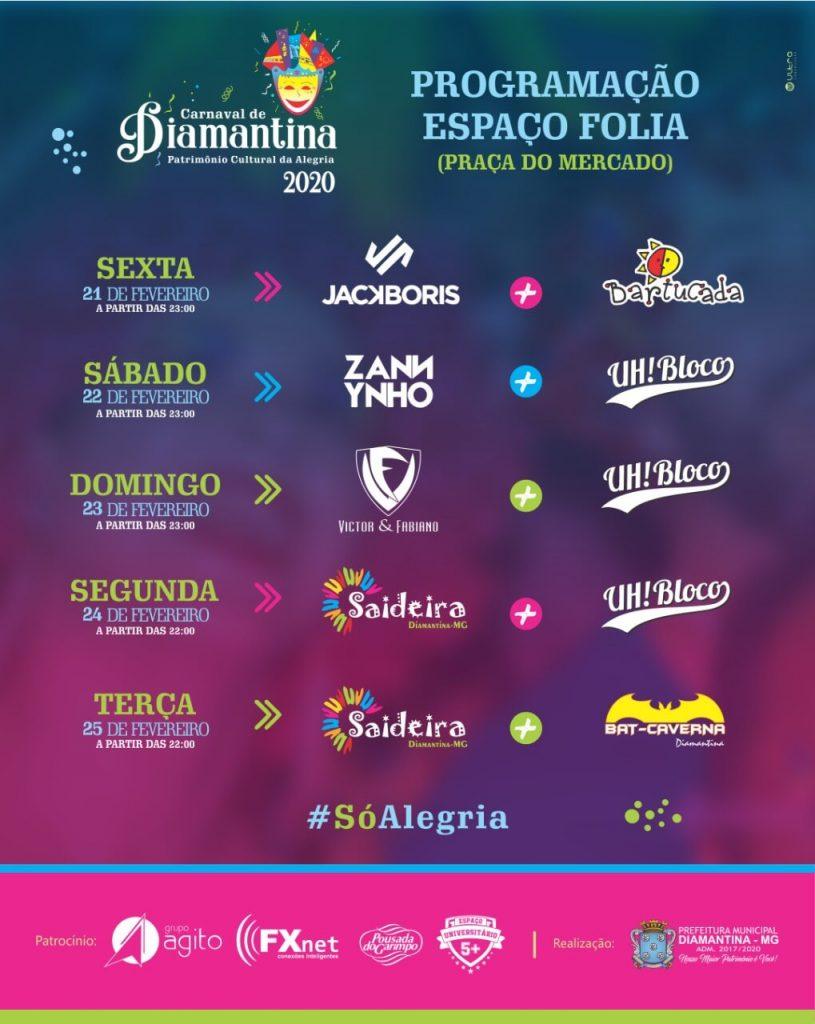 Espaço Folia Carnaval Diamantina 2020